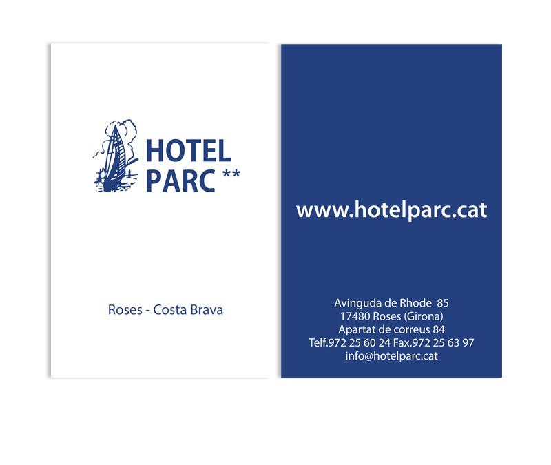 Targes de visita Hotel Parc
